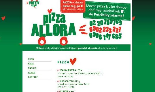 Pizza Allora / webdesign