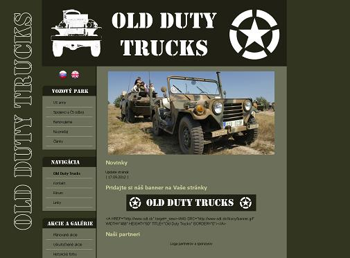Old Duty Trucks / webredesign